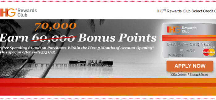 70,000 Bonus Points + Free Night Every Year with the IHG Rewards ...