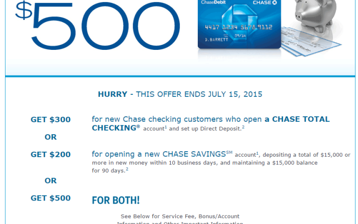 Chase 500 promotion