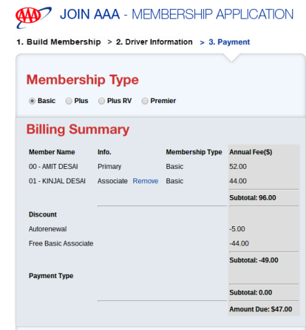 Aaa membership coupon 2018