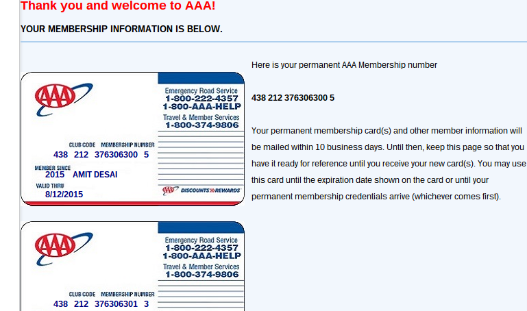 Aaa membership discount coupon