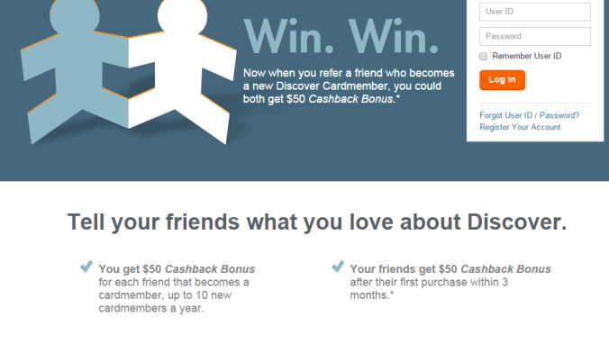 discover refer a friend