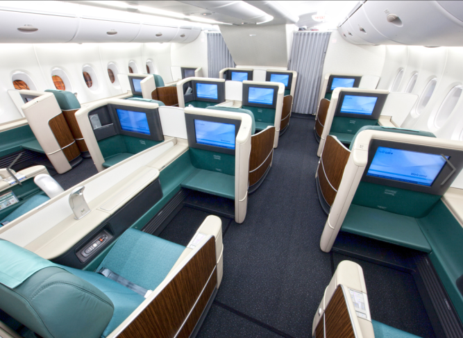Korean air business class brazil