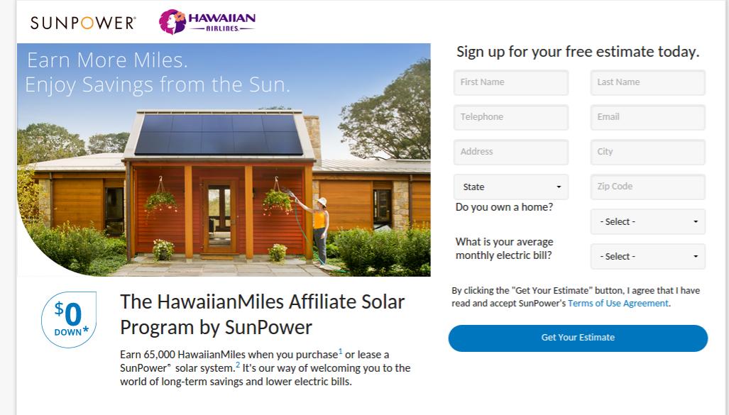 65,000 HawaiianMiles if you go Solar | Around The World In Eighty
