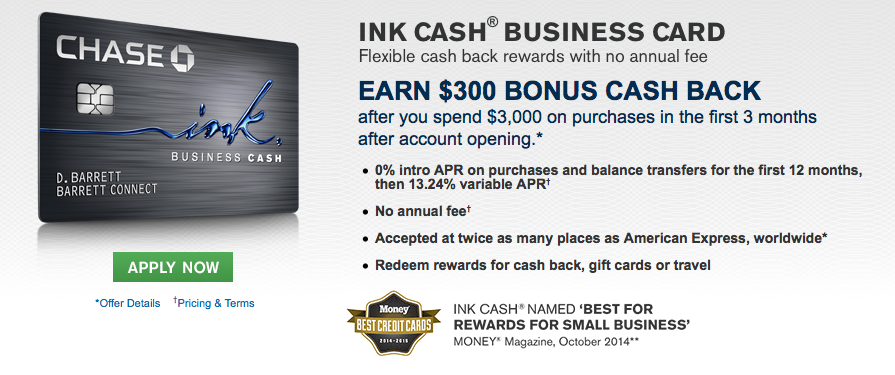 Chase ink plus offering 60000 bonus points and ink cash 300 bonus ink cash business credit card earn 300 bonus cash back after you spend 3000 on purchases in the first 3 months from account opening colourmoves