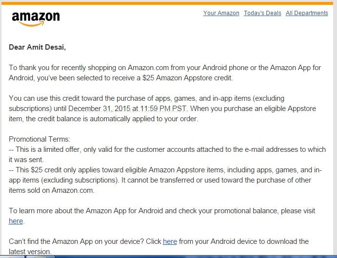amazon app credit